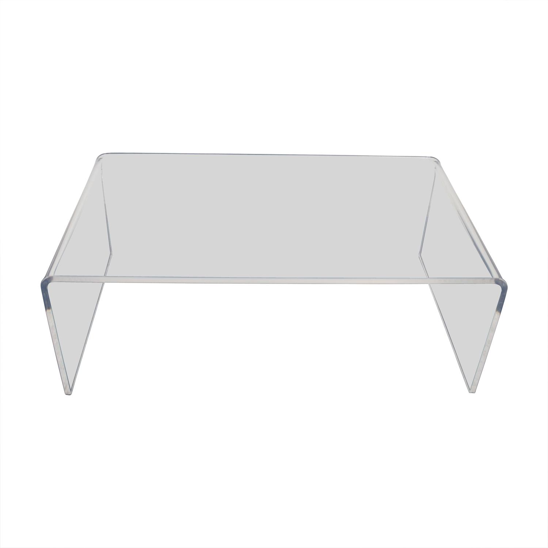 Peekaboo Clear Coffee Table: CB2 CB2 Peekaboo Acrylic Coffee Table / Tables