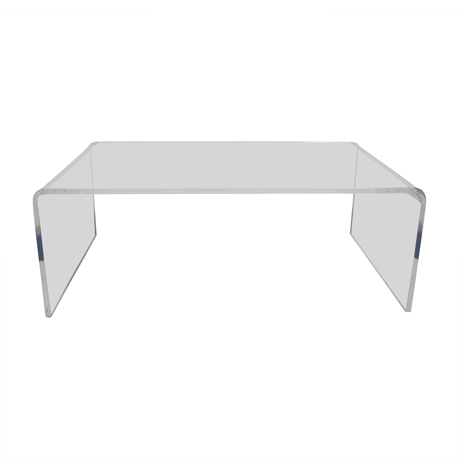 60 Off Cb2 Cb2 Peekaboo Acrylic Coffee Table Tables