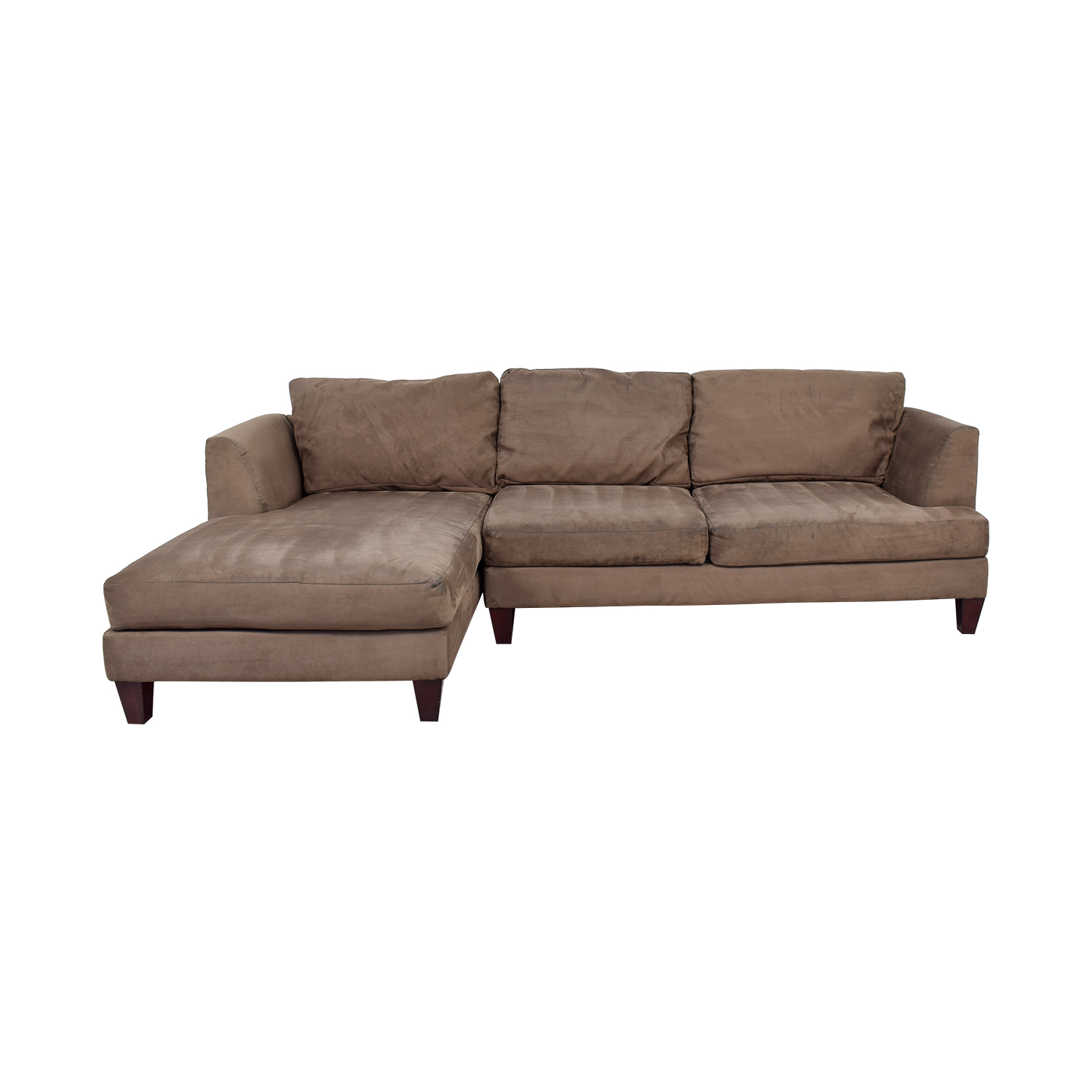 Bauhaus Furniture Brown Chaise Sectional Second Hand