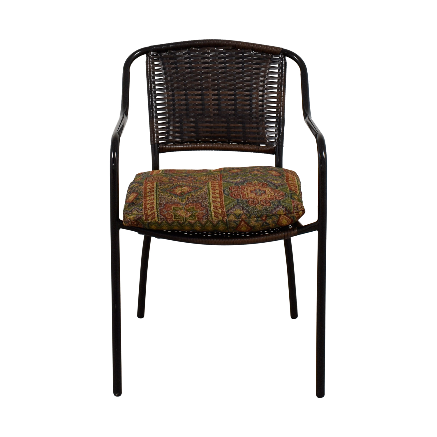 Wocker and Metal Chair with Cushion discount