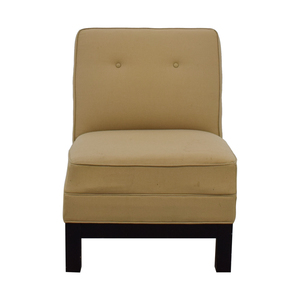 Restoration Hardware Beige Lounge Chair Restoration Hardware