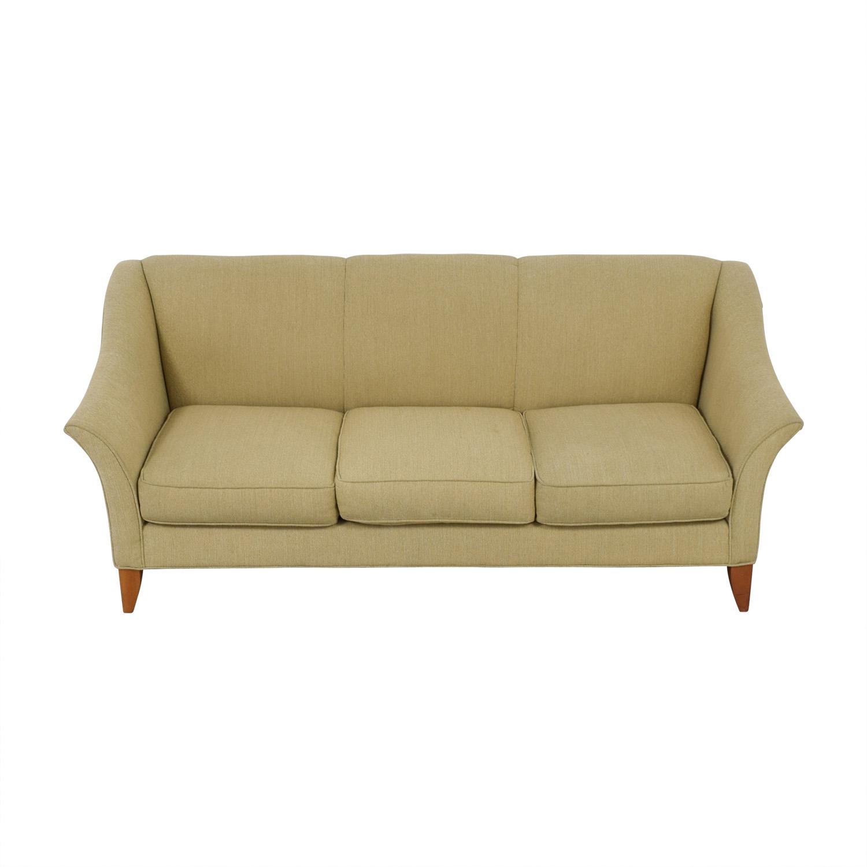 shop Maurice Villency Beige Three-Cushion Sofa Maurice Villency Classic Sofas