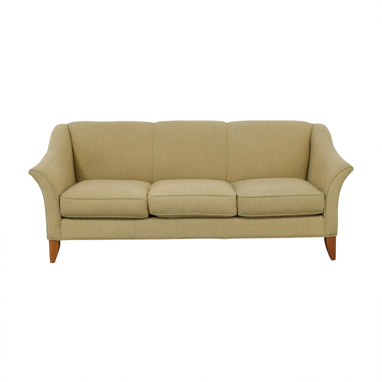 Maurice Villency Beige Three-Cushion Sofa sale