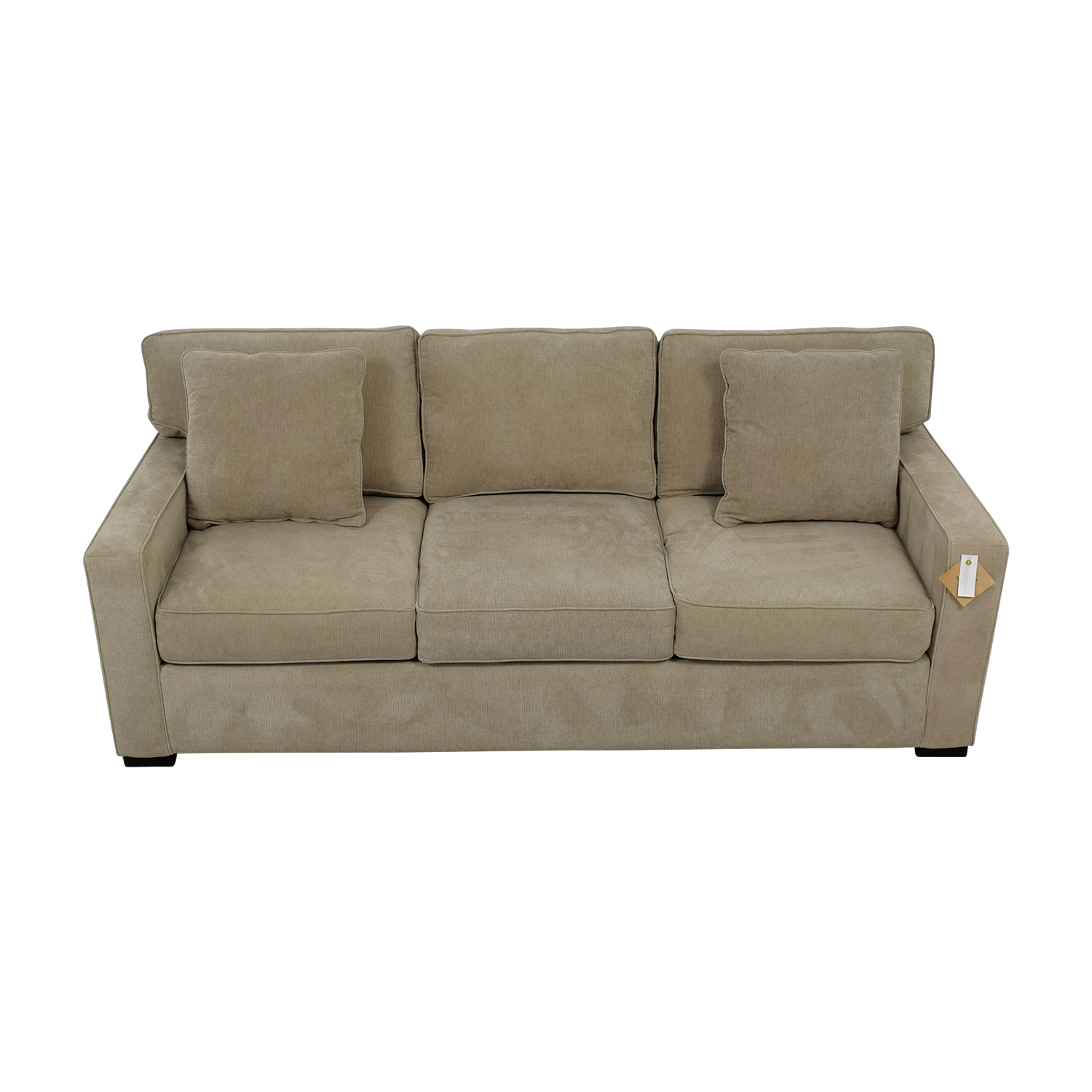 Jonathan Louis  Grey Three-Cushion Fabric Sofa / Sofas