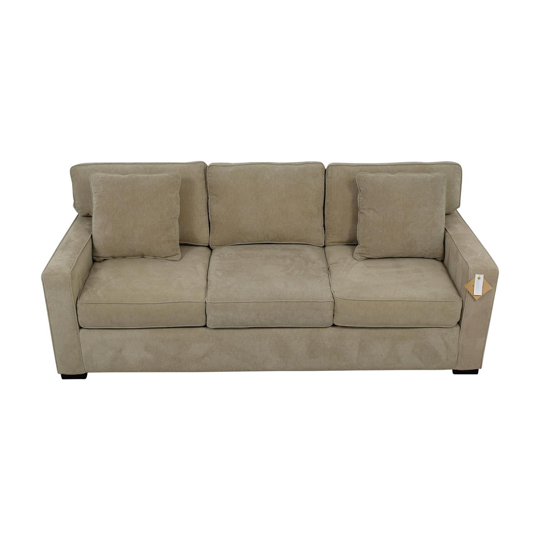 Jonathan Louis Jonathan Louis  Grey Three-Cushion Fabric Sofa discount