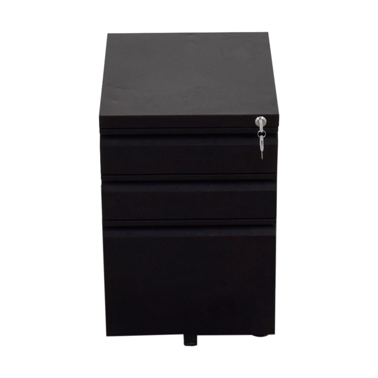 DEVAISE DEVAISE Three-Drawer Black Metal File Cabinet with Lock price