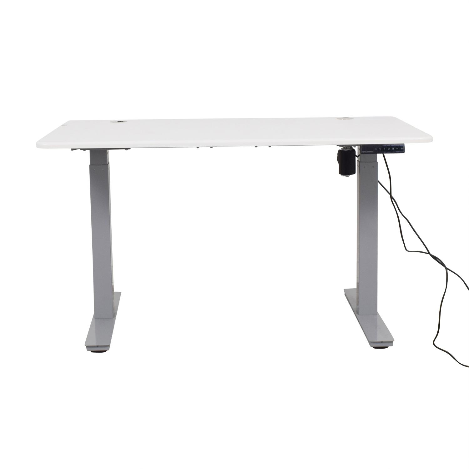 shop Autonomous SmartDesk White and Grey Standing Desk Autonomous Sofas