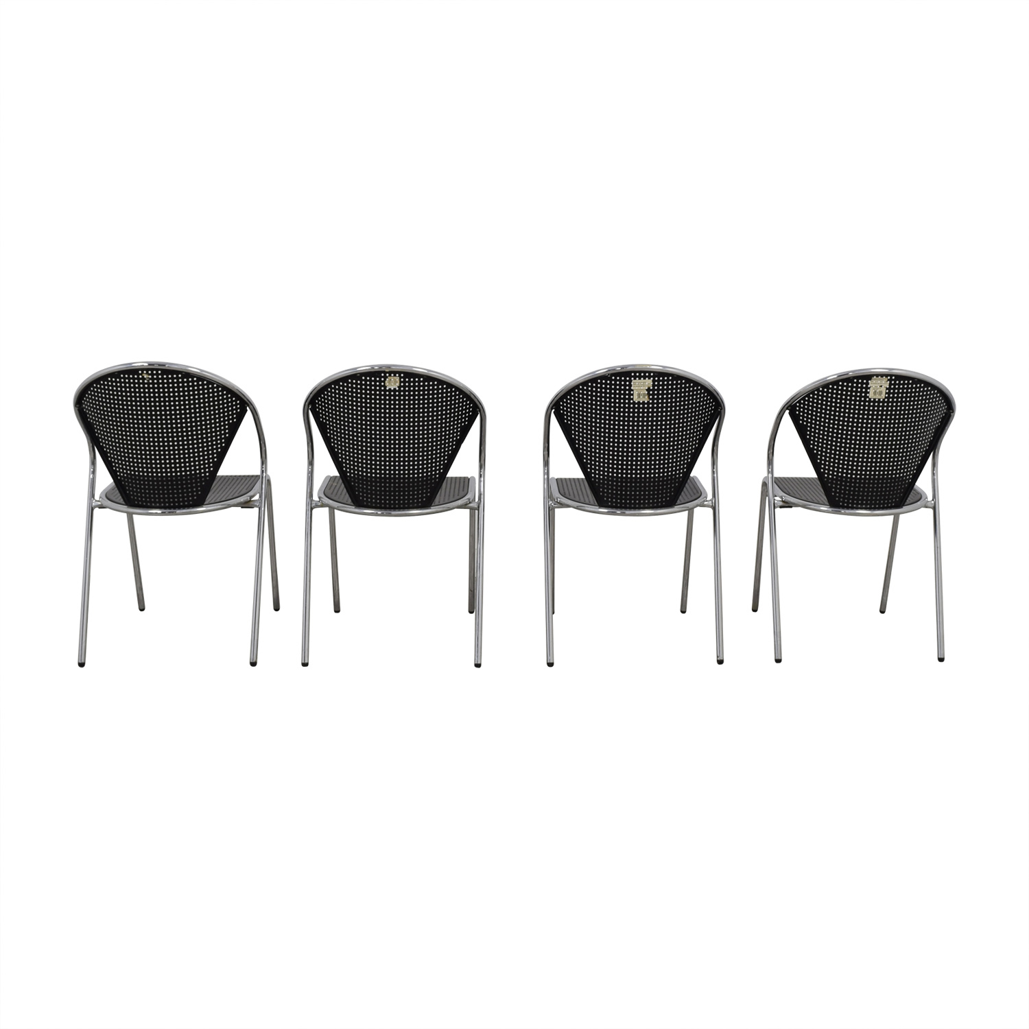 Manhattan Home Design Manhattan Home Design Protech Black Steel Stacking Chairs discount
