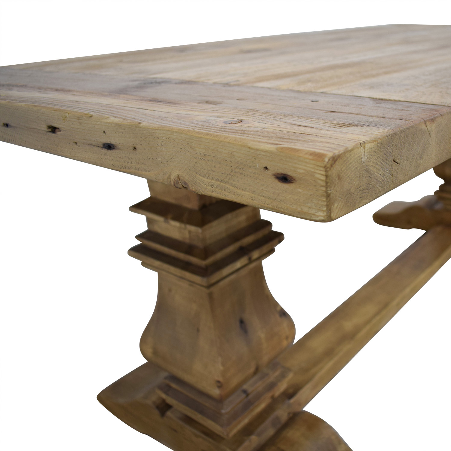 63 Off Restoration Hardware Salvaged Wood Trestle Extendable Dining Table Tables