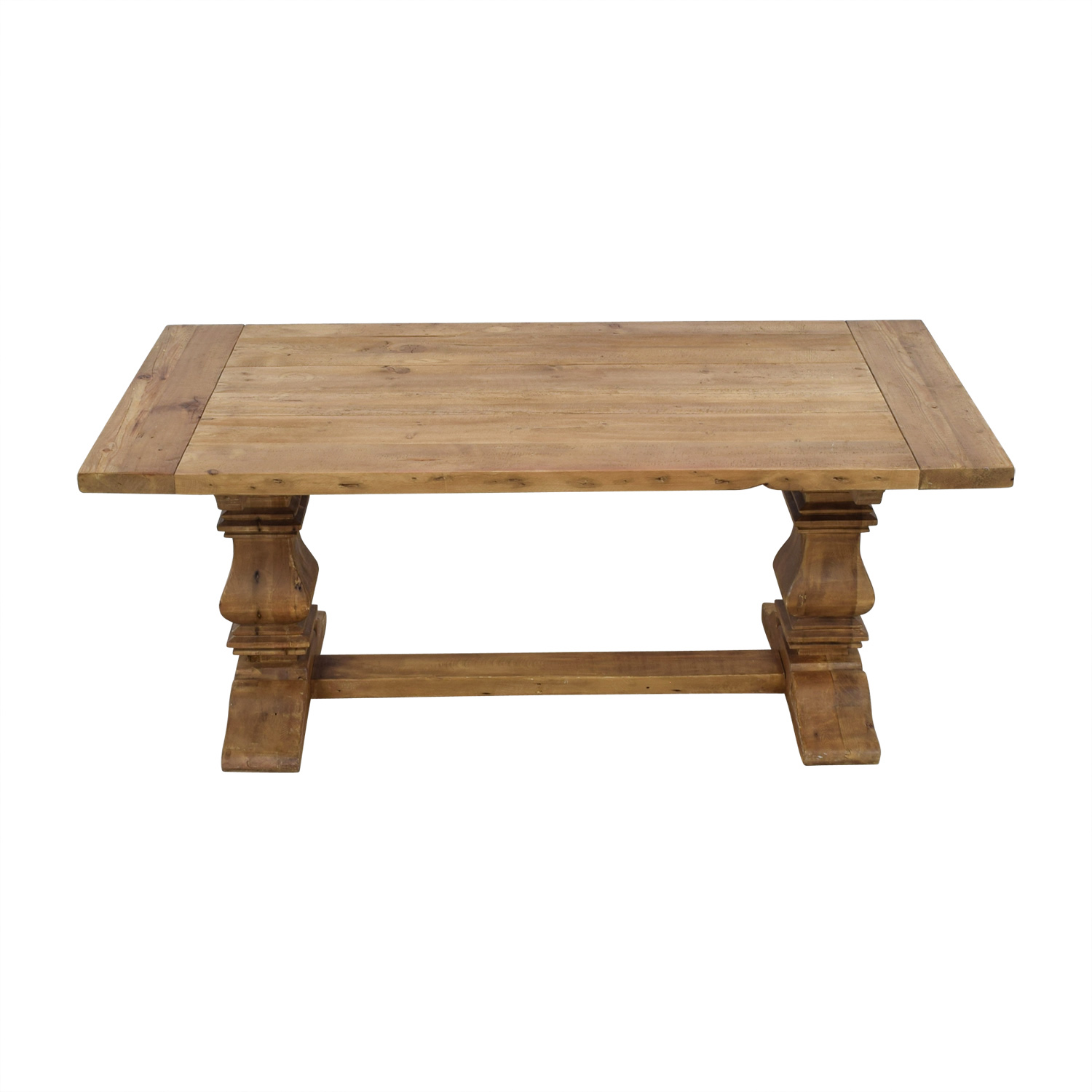 Restoration Hardware Salvaged Wood Trestle Extendable Dining Table sale