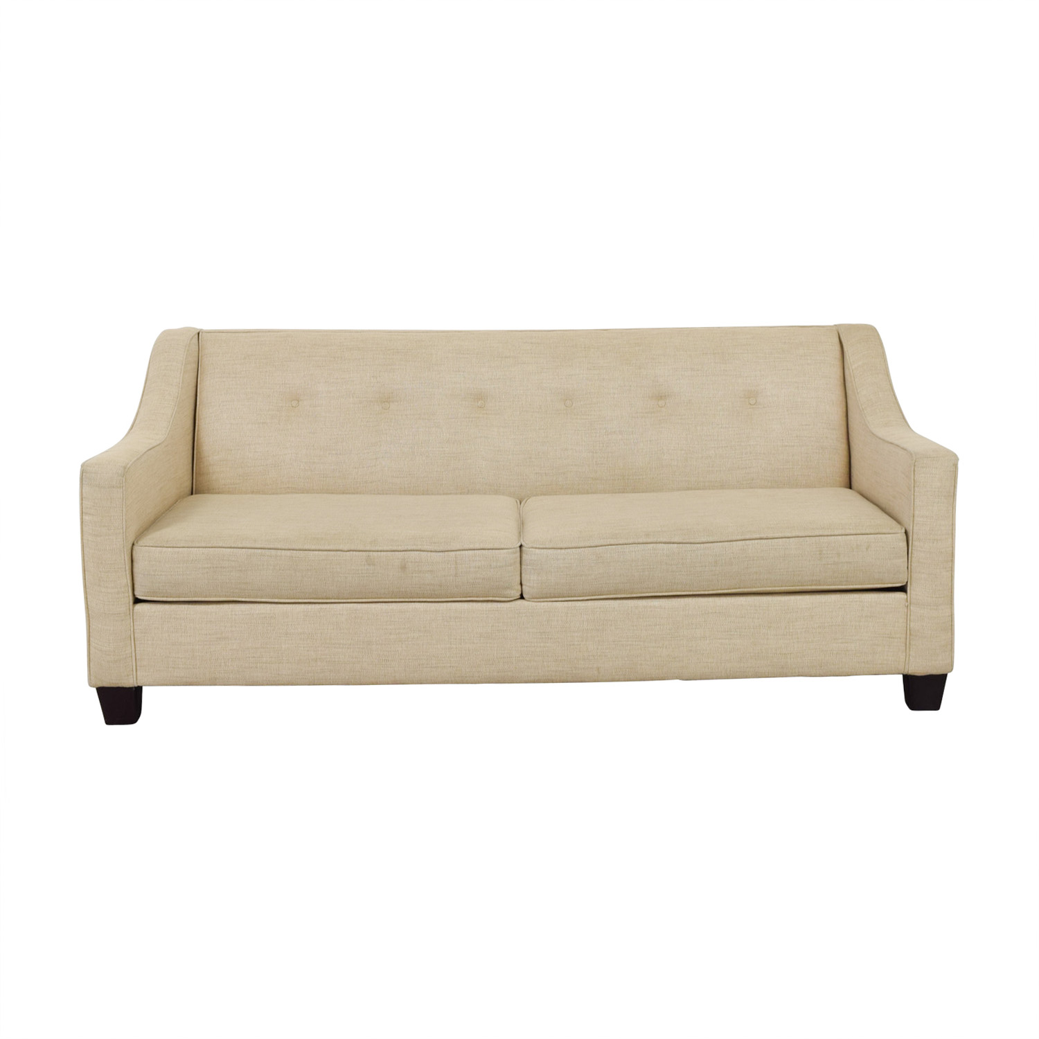 shop May Furniture Tan Tufted Two-Cushion Couch May Furniture Sofas