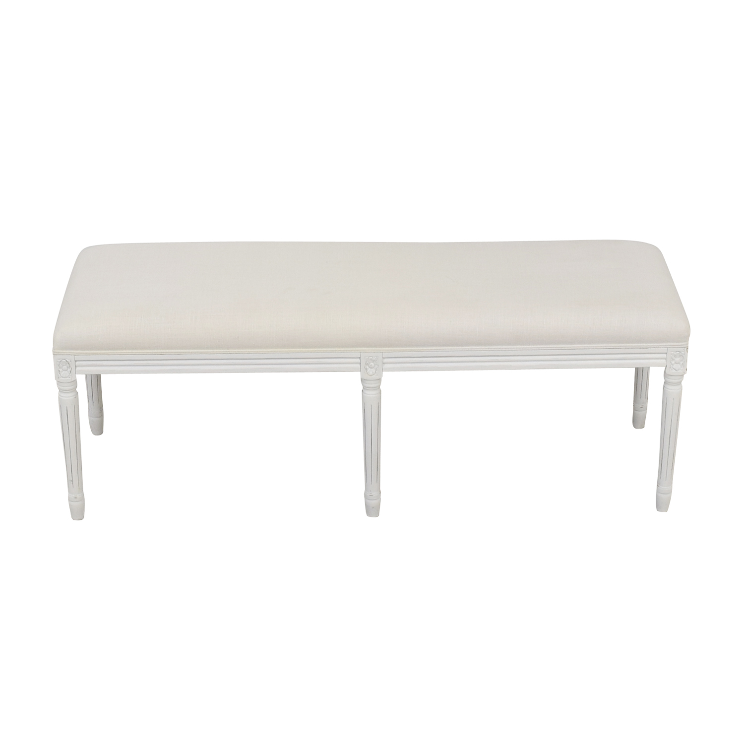 Restoration Hardware Restoration Hardware Louis White Bench used