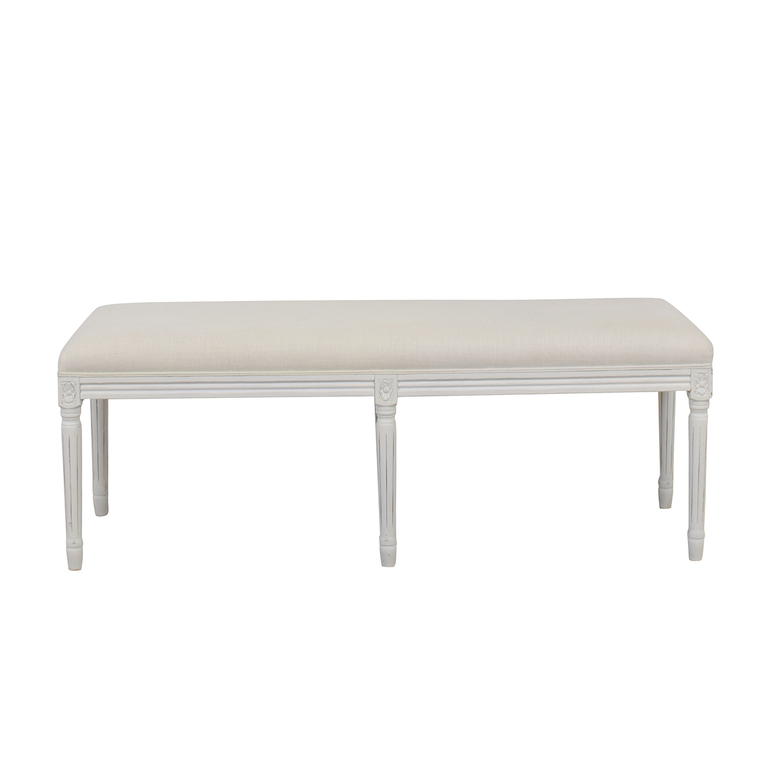 Restoration Hardware Restoration Hardware Louis White Bench dimensions