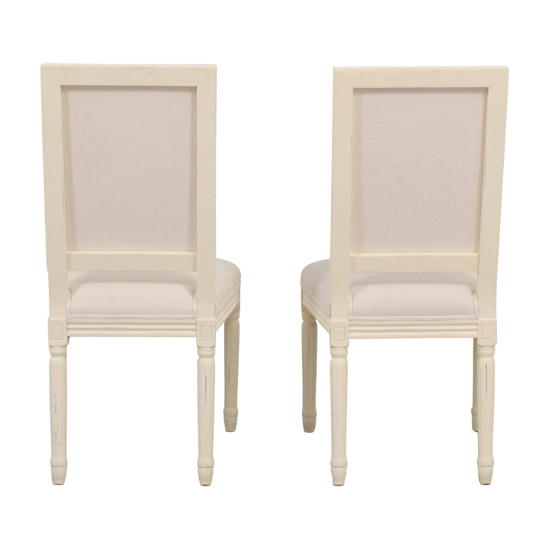 shop Restoration Hardware Vintage White Upholstered Chairs Restoration Hardware Dining Chairs