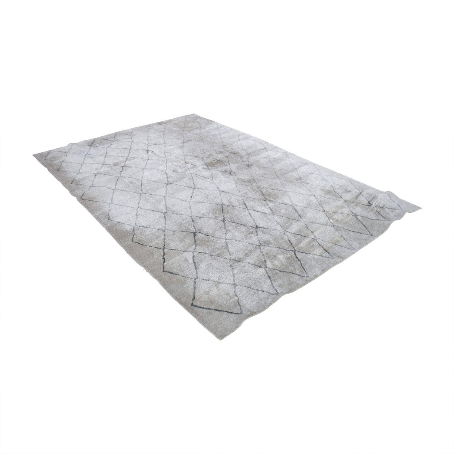 Restoration Hardware Restoration Hardware Arlequin Cream and Grey Rug on sale