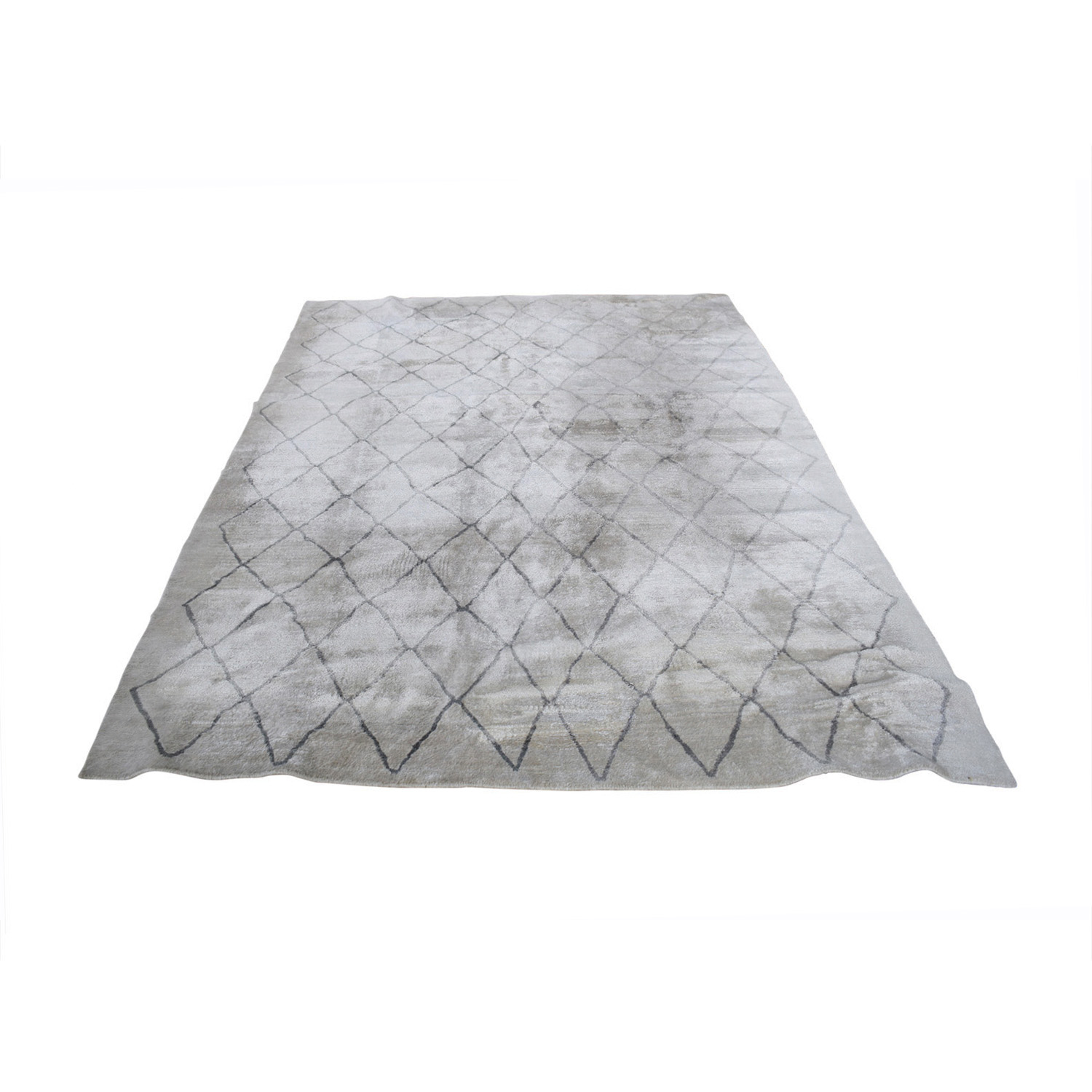 Restoration Hardware Restoration Hardware Arlequin Cream and Grey Rug discount