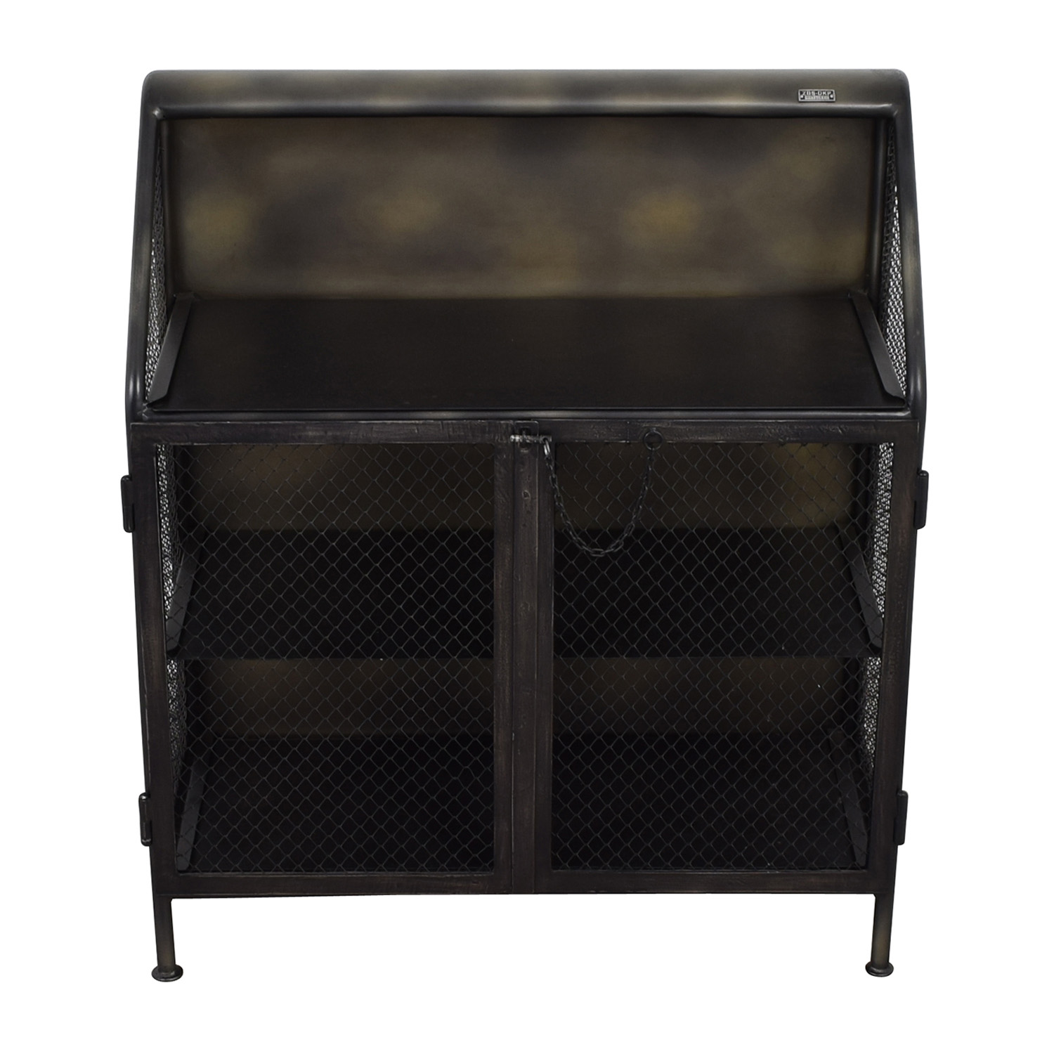 Restoration Hardware Restoration Hardware Vintage French Factory Bar Cart second hand
