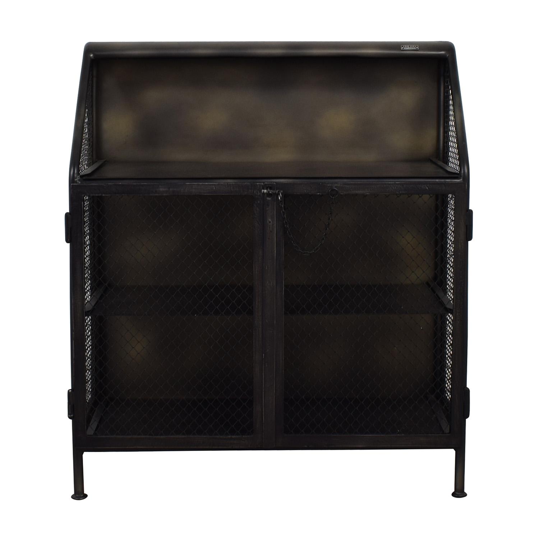 buy Restoration Hardware Vintage French Factory Bar Cart Restoration Hardware Utility Tables