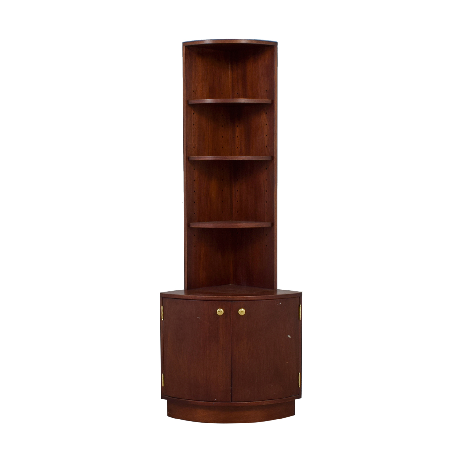 buy Antique Brown Corner Cabinet