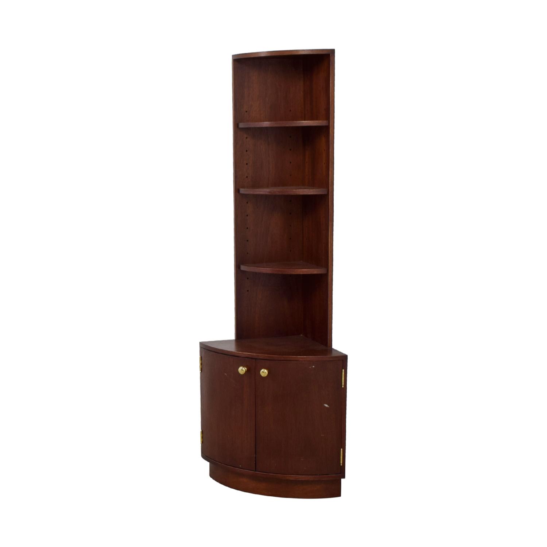 ... Antique Brown Corner Cabinet for sale ... - 89% OFF - Antique Brown Corner Cabinet / Storage