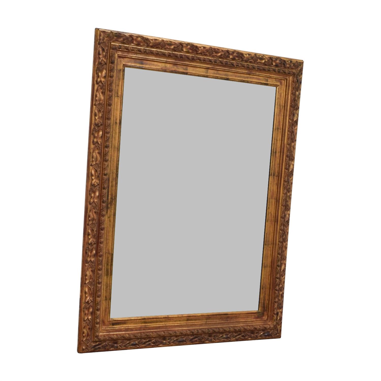 Bronze Framed Wall Mirror / Decor
