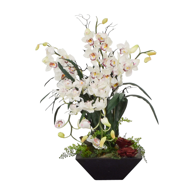buy Nearly Naturals Nearly Naturals White Cymbidium Silk Orchid Flowers online