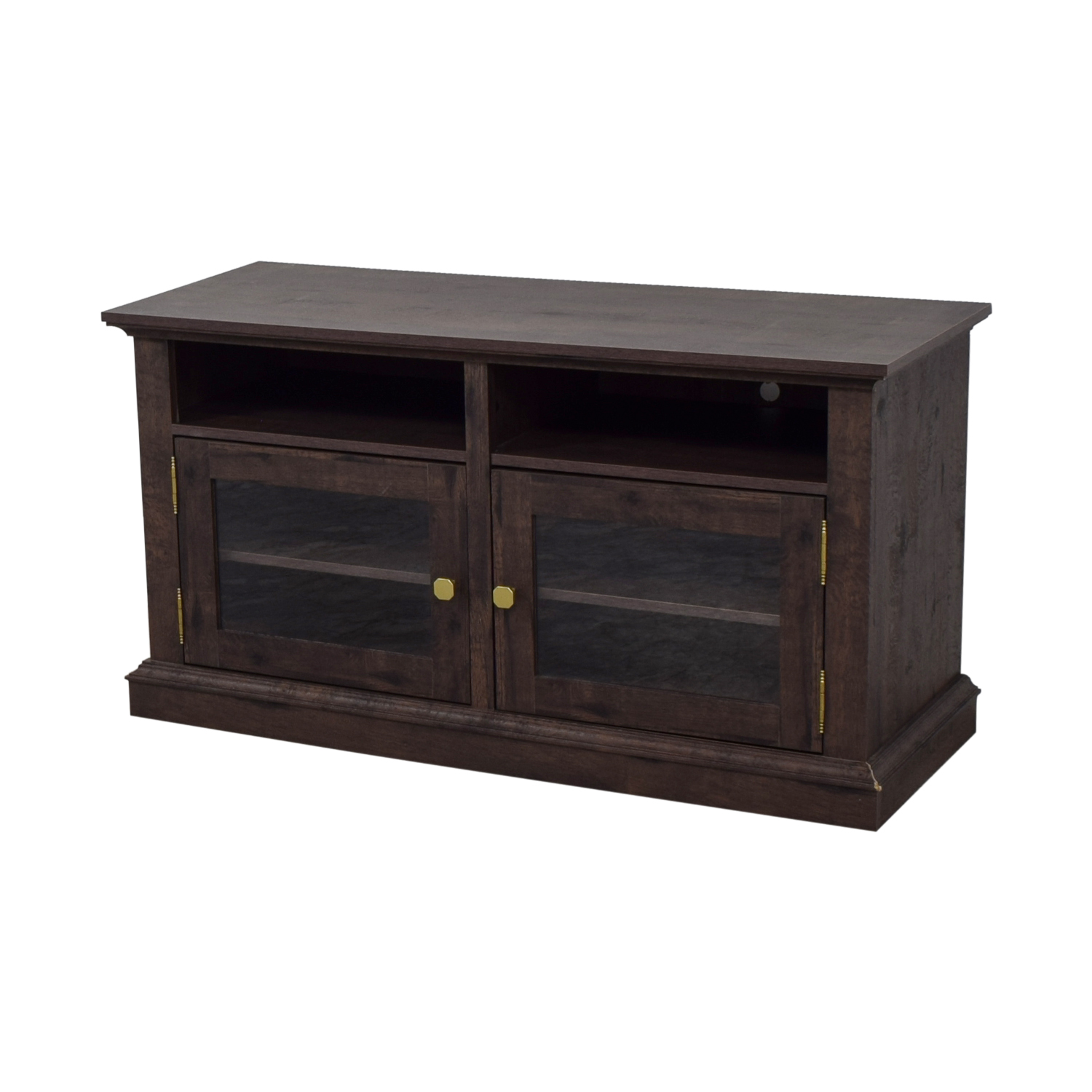 Laurel Foundry Laurel Foundry Arvilla Wood and Glass TV Stand Media Units
