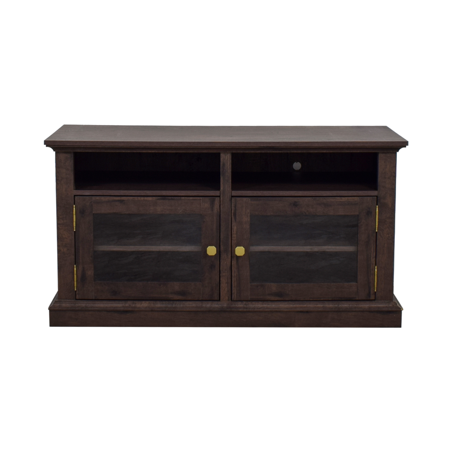 buy Laurel Foundry Arvilla Wood and Glass TV Stand Laurel Foundry Storage