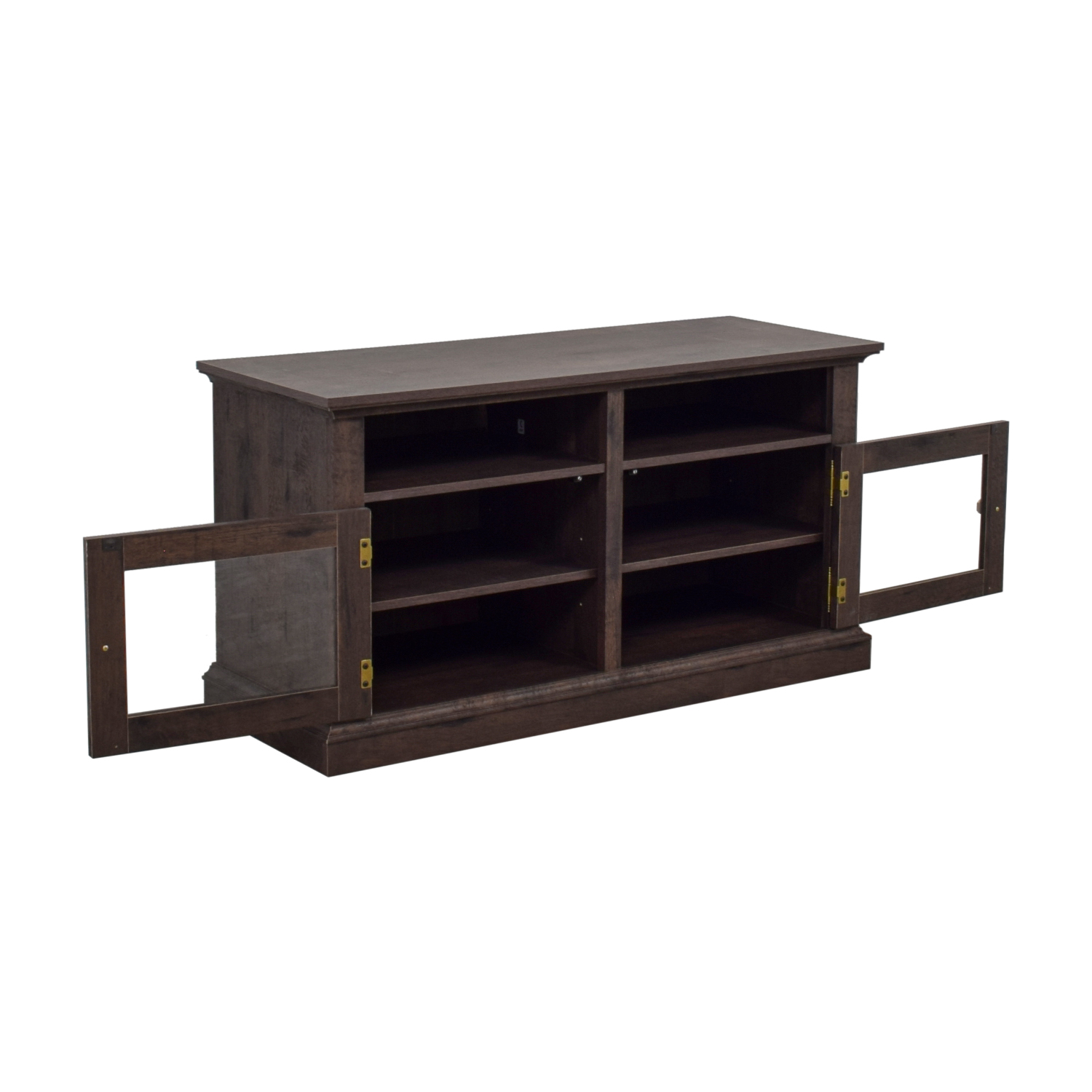 buy Laurel Foundry Laurel Foundry Arvilla Wood and Glass TV Stand online