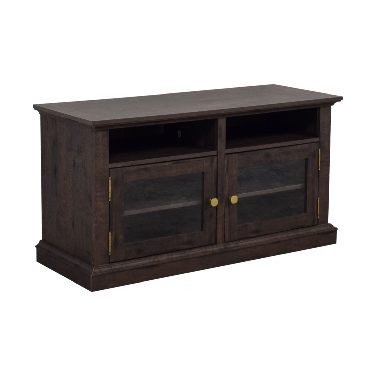 Laurel Foundry Arvilla Wood and Glass TV Stand sale