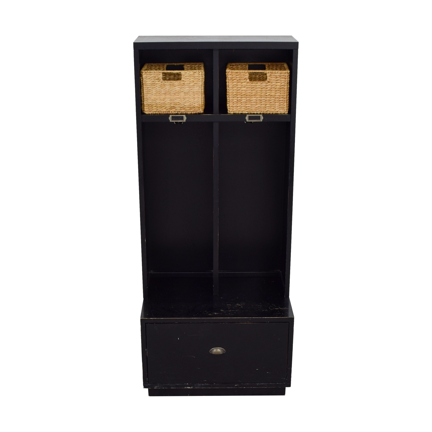 buy Pottery Barn Pottery Barn Single Drawer Mud Room Lockers with Wicker Baskets online