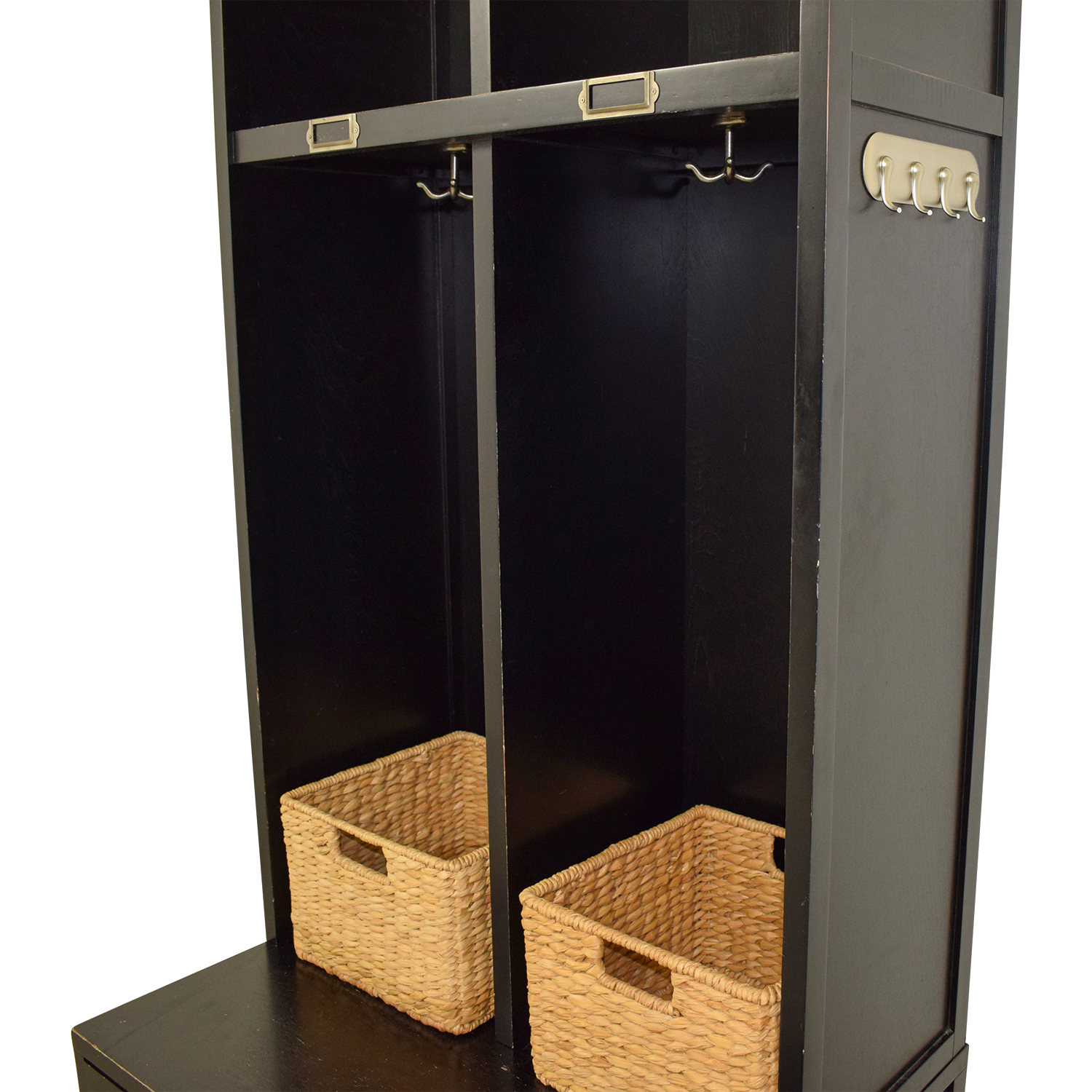 Pottery Barn Pottery Barn Single Drawer Mud Room Lockers with Wicker Baskets second hand