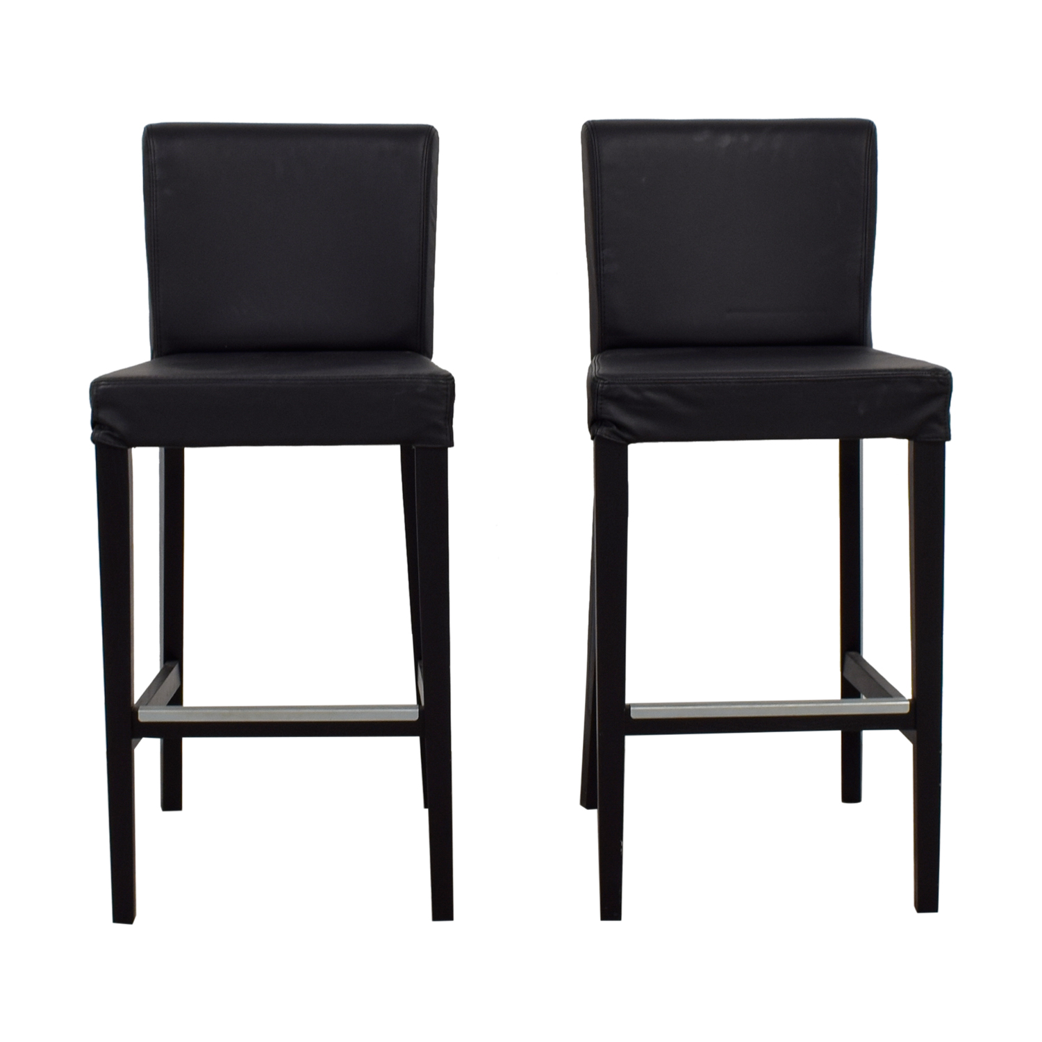 IKEA IKEA Black Tall Bar Counter Stools Black ...