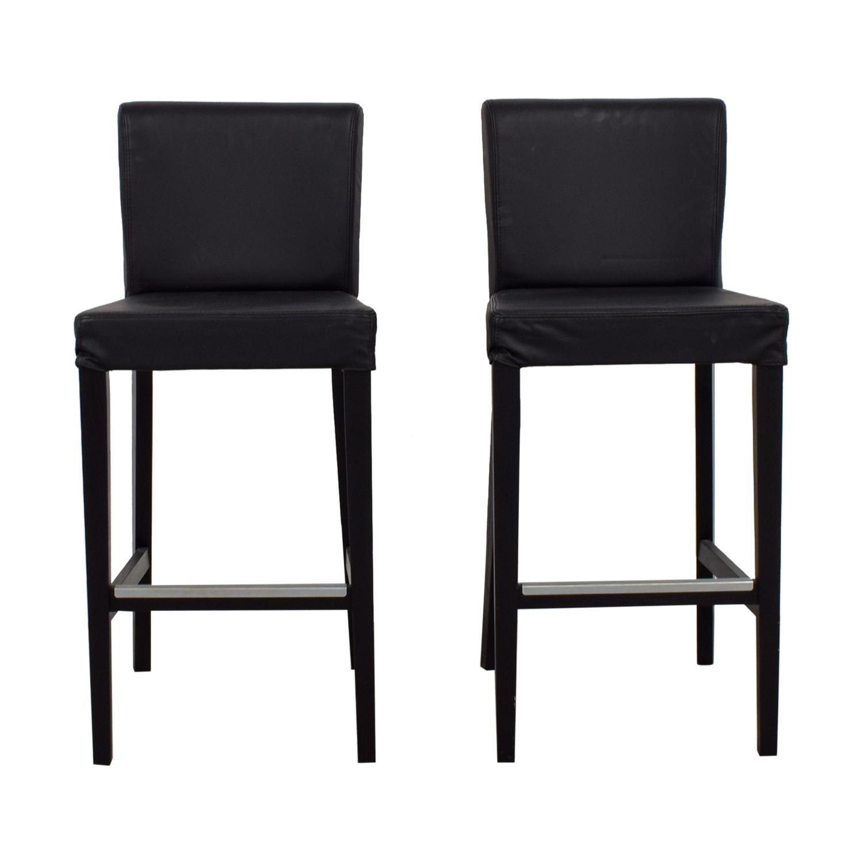 Brilliant 68 Off Ikea Ikea Black Tall Bar Counter Stools Chairs Creativecarmelina Interior Chair Design Creativecarmelinacom