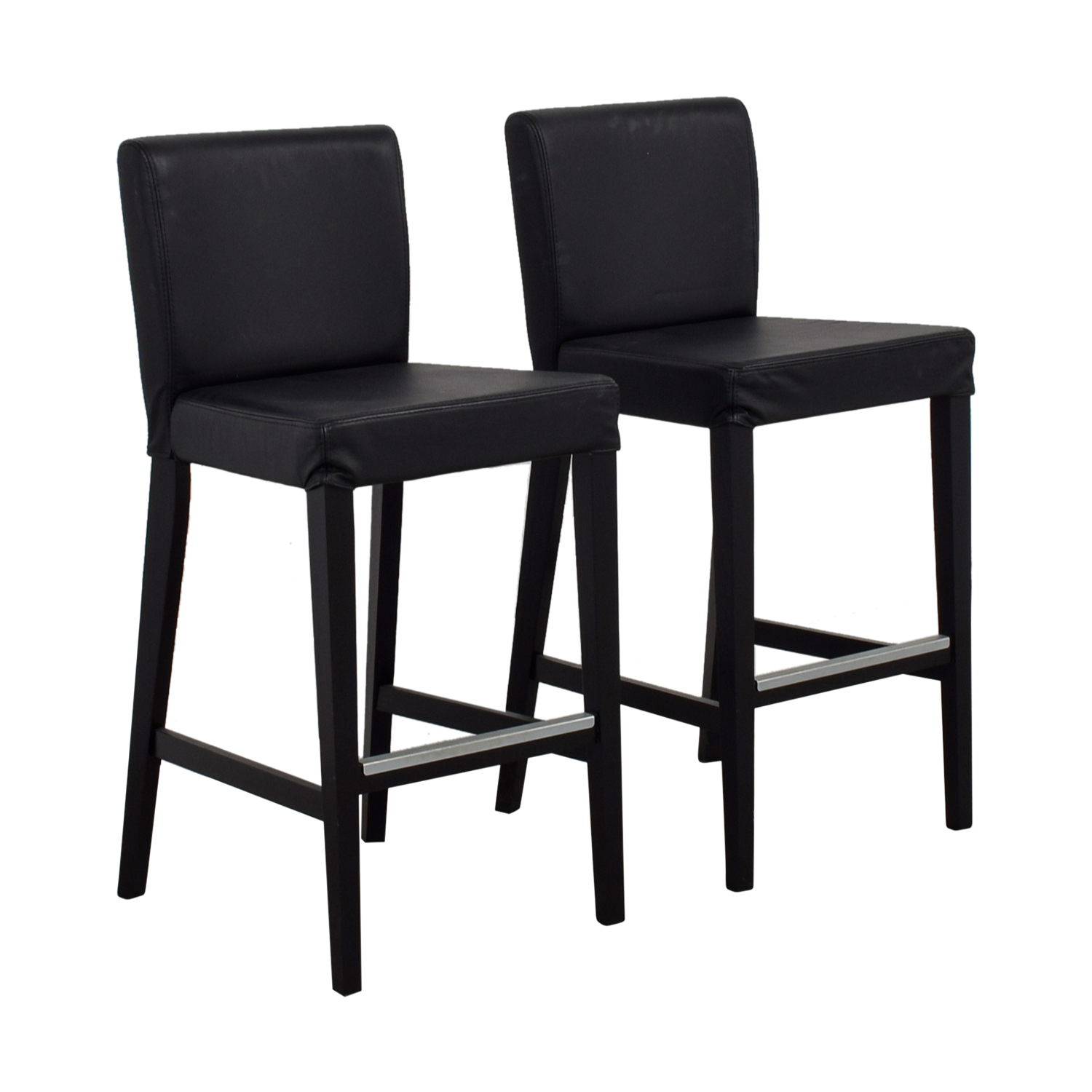 Fine 68 Off Ikea Ikea Black Tall Bar Counter Stools Chairs Ncnpc Chair Design For Home Ncnpcorg