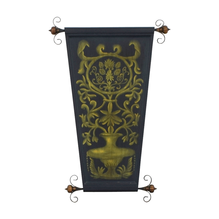 Wood and Metal Floral Wall Art discount