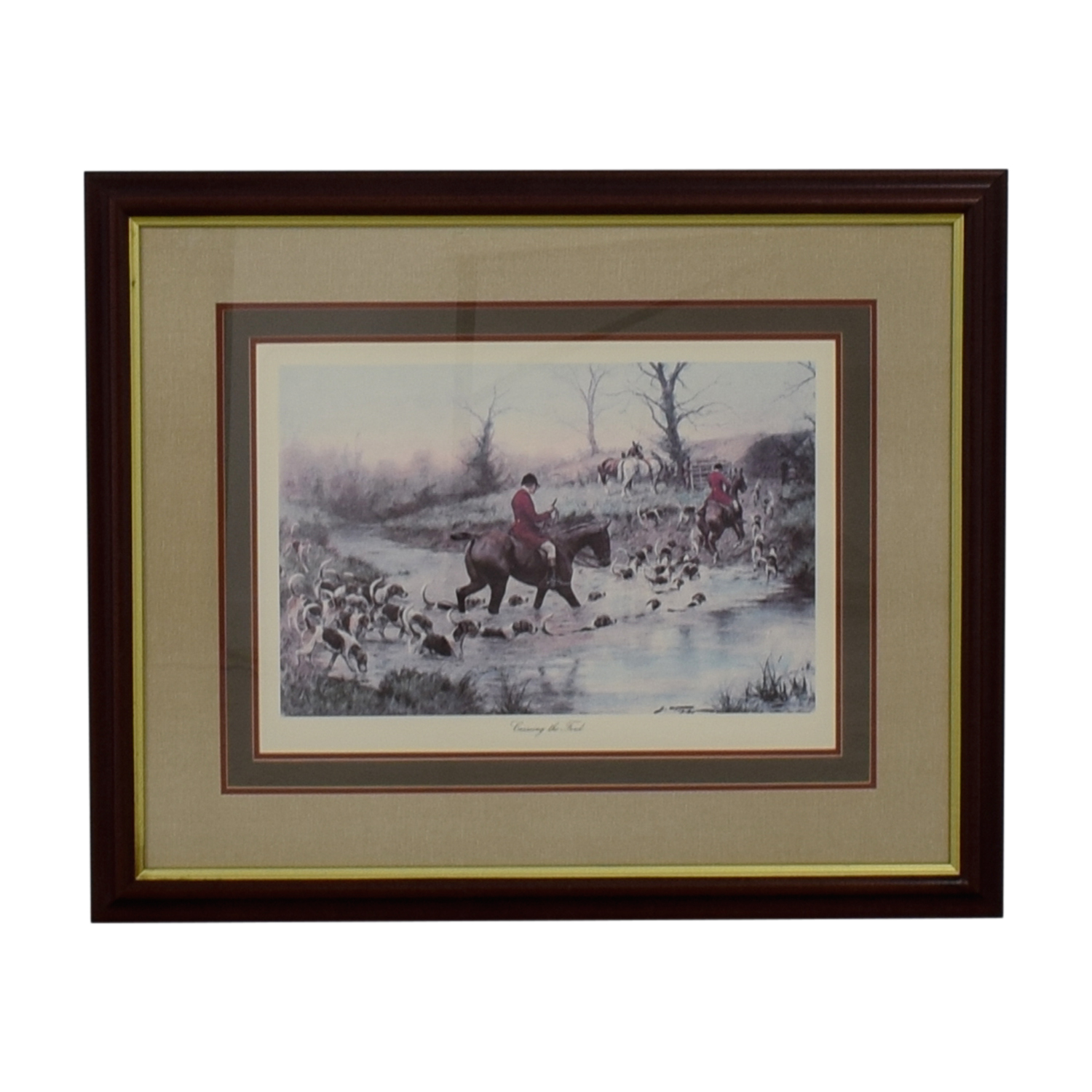 Crossing the Ford Equestrian Framed Print coupon