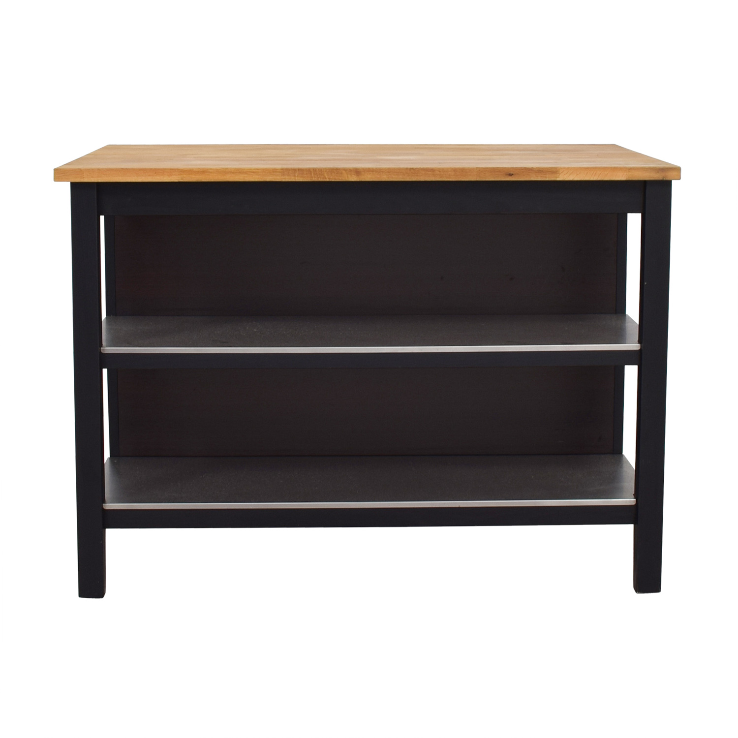 IKEA IKEA Stenstorp Wood Chrome And Black