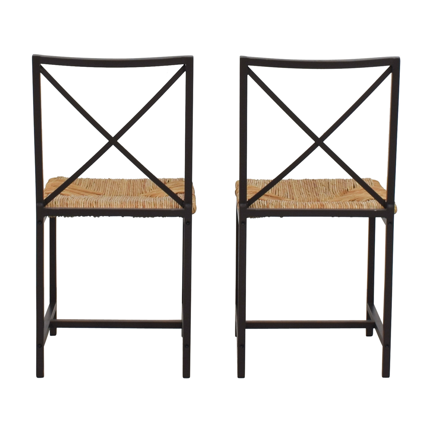 buy Woven Rush and Metal Chairs  Dining Chairs