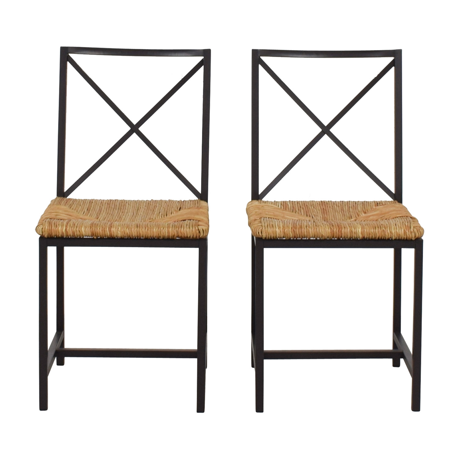 buy  Woven Rush and Metal Chairs online