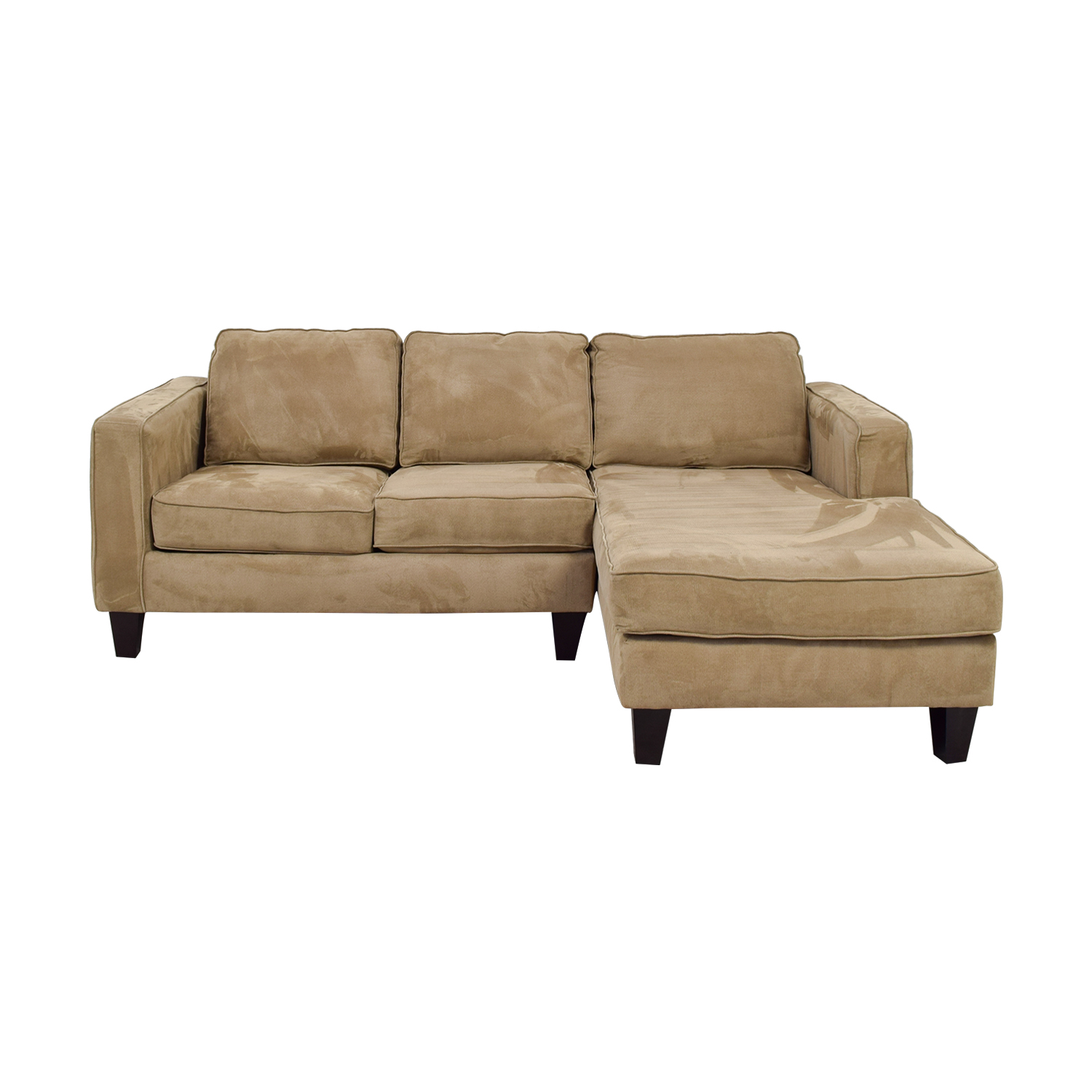 Pier 1 Pier 1 Tan L-Shaped Sectional Sofas