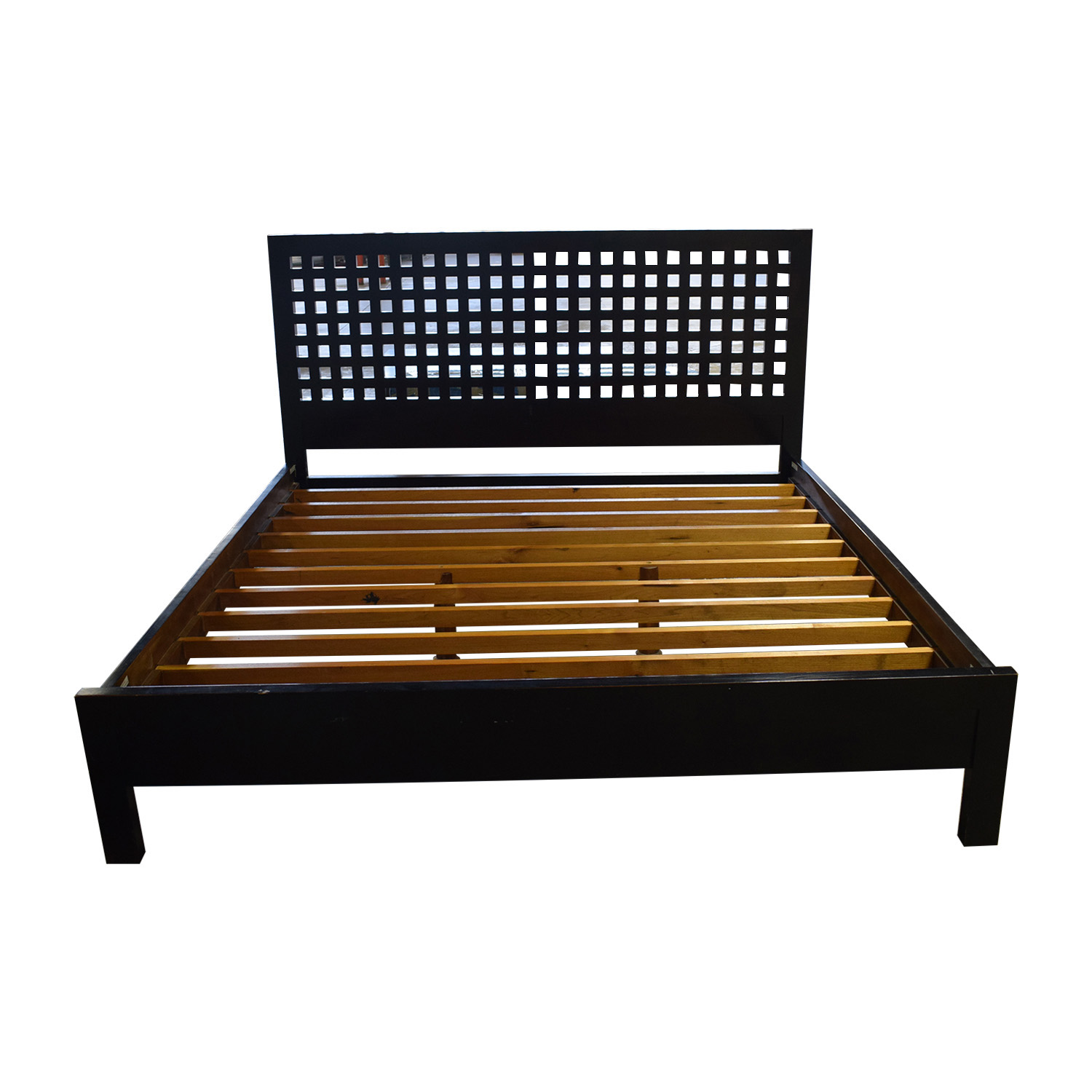 shop Crate & Barrel Wood Platform King Bed Frame Crate & Barrel