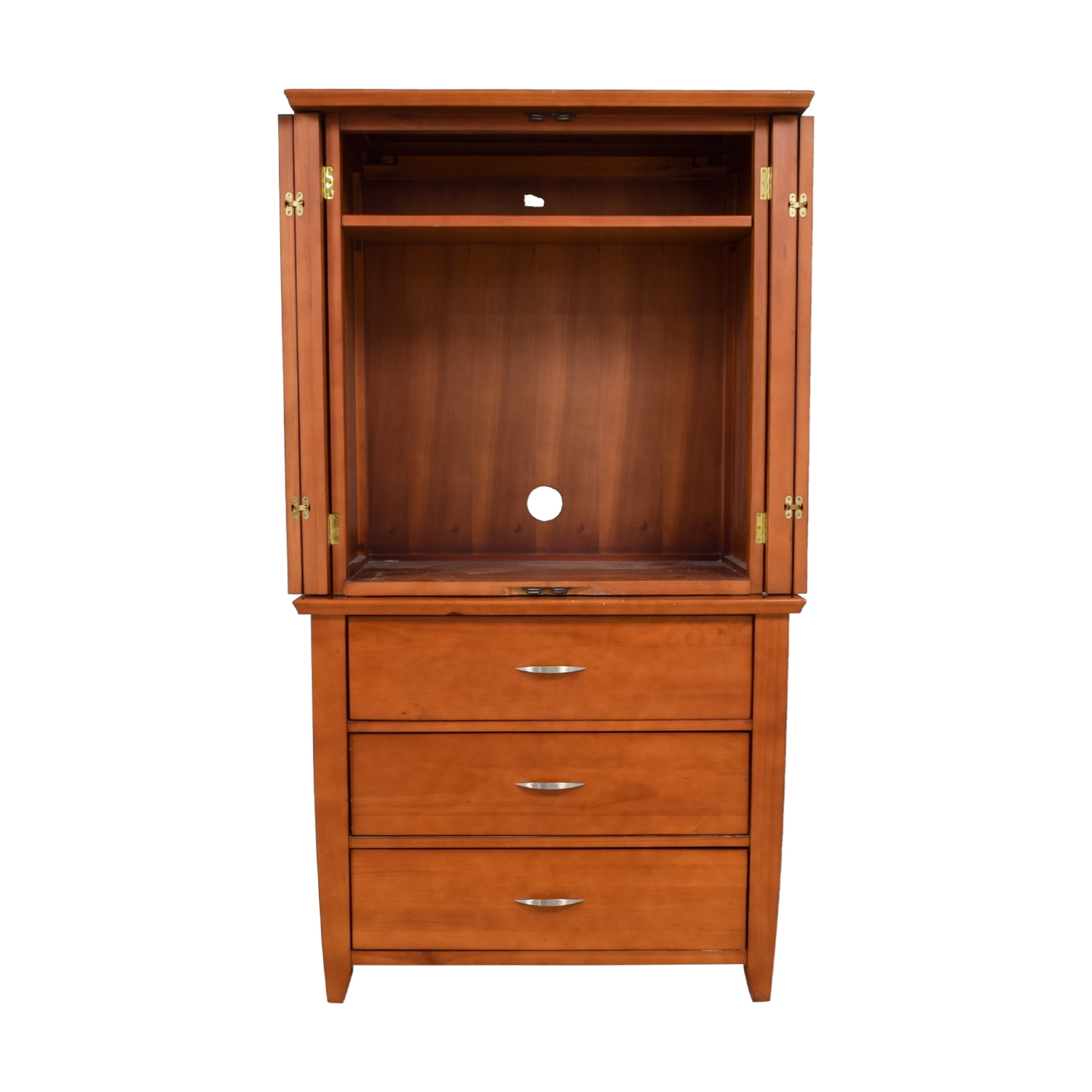 shop The Door Store TV Armoire with Three Drawers The Door Store Wardrobes & Armoires