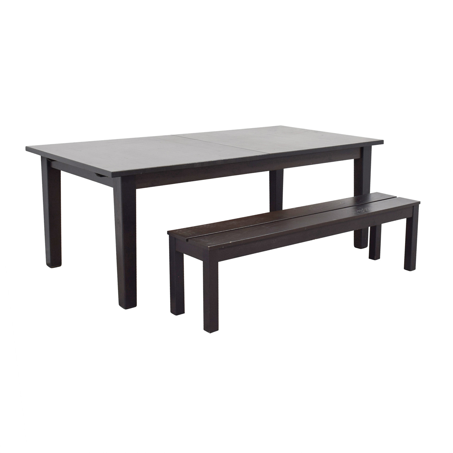 Dining Room Tables With Benches: IKEA IKEA Extendable Dining Room Table With Bench / Tables