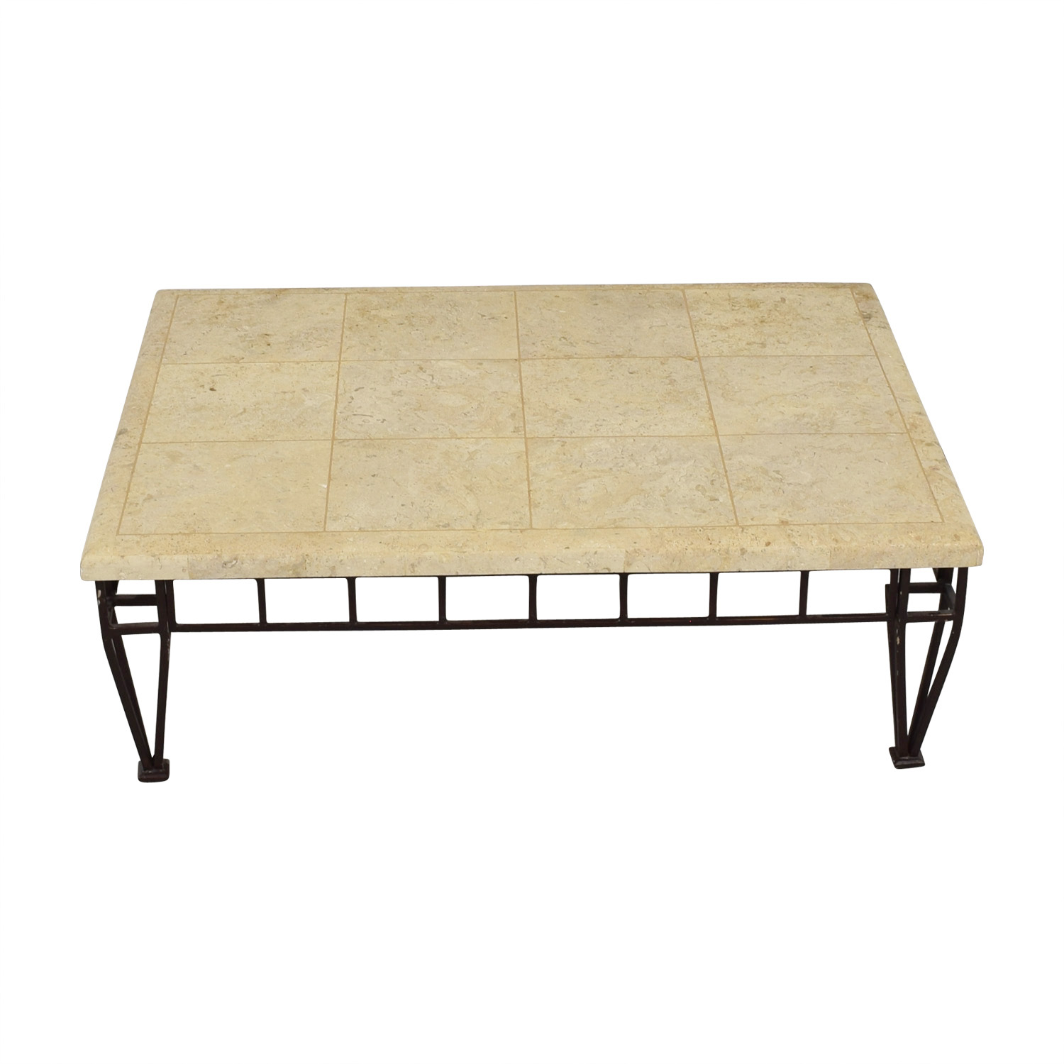 Stone Top Coffee Table nj