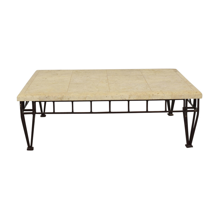 Stone Top Coffee Table used