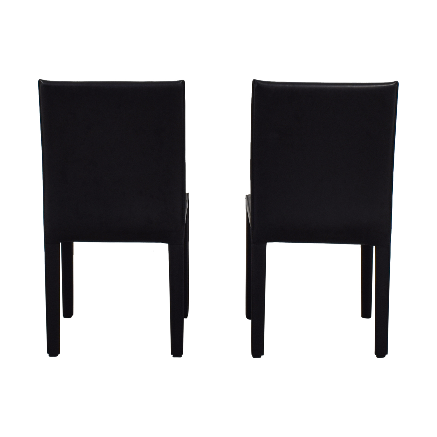 Maria Yee Maria Yee Mondo Black Leather Side Chairs nj