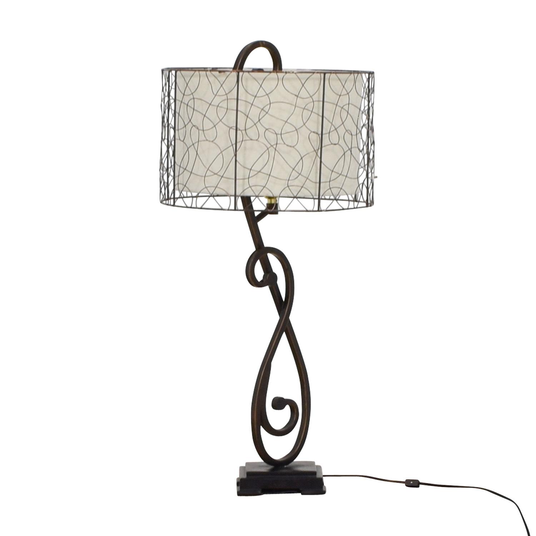 78% OFF   World Market World Market Metal Table Lamp / Decor