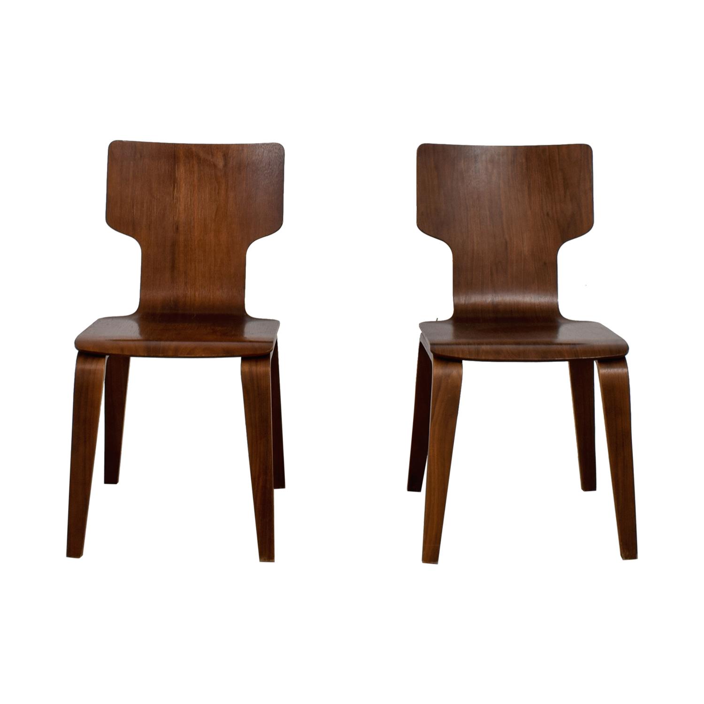 West Elm West Elm Stackable Veneer Chairs nyc