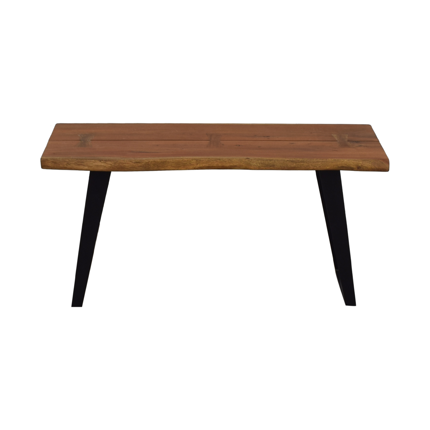 shop Crate & Barrel Yukon Wood and Metal Console Table Crate & Barrel Sofas